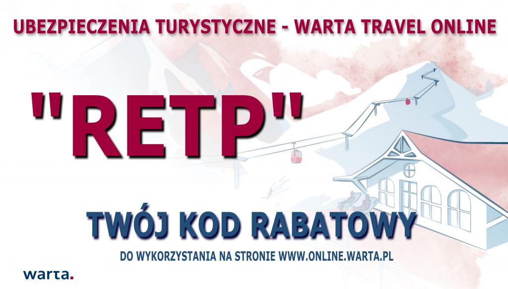 RETP KOD RABATOWY WARTA TRAVEL ONLINE